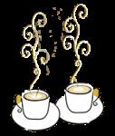 Logo tasses de café